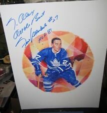 Frank Mahovlich Toronto Maple Leafs Canada Post Stamp Lithograph Print Signed *
