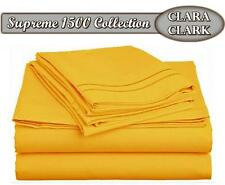 NEW Clara Clark Premier 1500 Collection 4pc Bed Sheet Set - Queen Size, Yellow!