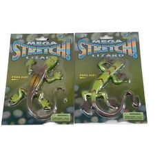 (2) Mega Stretch Lizard Fidget Stress Relief Toy Tactile Sensory Toy