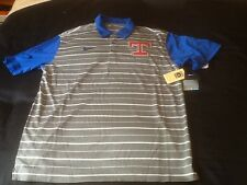 NWT!NIKE M.L.B Texas Rangers CHARCOAL/ROYAL Cooperstown Collection Polo 2XL
