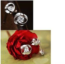 Women's 925 Sterling Silver Whirl Stud Earrings Jewellery Womens Gift UK