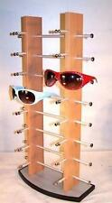 BRAND NEW 16 PAIR BROWN WOODEN SUNGLASS DISPLAY RACK wood sunglasses holder