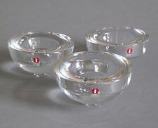 3x Iittala Ballo Teelichthalter Design A. Hakatie Glass Votive Candle Holders