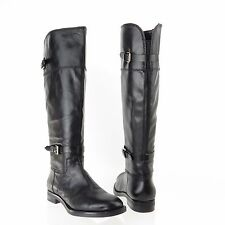Women's Enzo Angiolini EERO Black Leather Wide Calf Riding Boots Size 7.5 M NEW