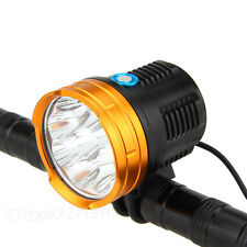Camping 15000LM 9x XML R8 LED Head Front Bicycle Light Bike Lamp Headlight Torch