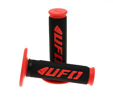 NEW UFO MOTOCROSS ENDURO HALF WAFFLE CHALLENGER GRIPS RED
