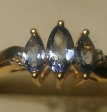.36tcw. tanzanite and diamond 10kt. gold ring. 1.3gr. Special price