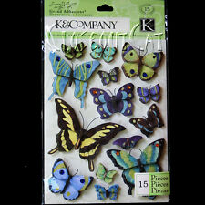 K & COMPANY Butterfly STICKERS SW Botanical NEW PACK Grand Adhesions Butterflies