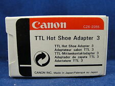 Genuine Cannon Camera TTL Hot Shoe Adapter 3 CZ62355 New In Box
