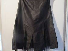 Pure Silk Full Circle Deep brown skirt size 8