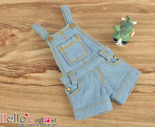 ☆╮Cool Cat╭☆244.【OS-02】Blythe/Pullip Denim Overall Shorts # Faded Blue