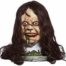 Halloween Animated Rotating Exorcist Regan Head With Moving Mouth & Sound. Speak