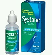 2  30ml ALCON SYSTANE Long Lasting Dry Eye Lubricant Artificial Tear Drops 2oz