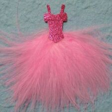 BEAUTIFUL PINK FEATHER DRESS EMBELLISHMENT TOPPER FOR CARDS/CRAFTS