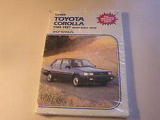 Clymer Toyota Corolla 1984-1987 Front Wheel Drive Shop Manual Engine Repair NEW