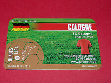 RARE FOOTBALL CARD FOOT2PASS 2010-2011 1. FC KÖLN COLOGNE FUSSBALL BUNDESLIGA
