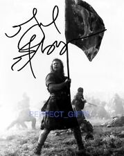 MEL GIBSON BRAVEHEART SIGNED 10X8 INCH REPRO PHOTO PRINT