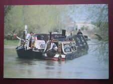 POSTCARD SAILING VESSELS TRADITIONAL NARROWBOATS - 'PRESIDENT' & KILDARE AT STOC