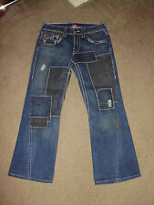 TRUE RELIGION Men's JOEY PATCH BIG T Stitched 31 x 31 Patched wash Rock Jeans