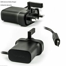GENUINE NOKIA AC-18X LUMIA 820 620 625 635 610 720 520 710 UK MAIN WALL CHARGER