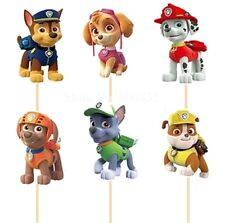 12 X PAW PATROL cake Picks/ Cupcake Toppers Kids Birthday Party Ryder Figure 888