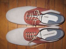 Johnston and Murphy Saddleback 11.5 D shoes suede  New never worn Orange Tan