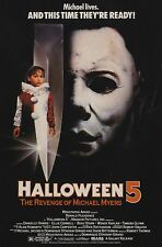 Halloween 5 The Revenge of Michael Myers - A4 Laminated Mini Poster