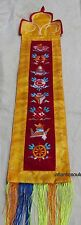 WH19 Traditional Buddhist Astamangala embroidered gift wall hanging Nepal Tibet