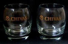 CHIVAS REGAL TUMBLER GLASSES - Pair - New - Collectibles