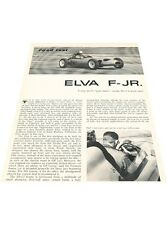 1960 Elva F-Jr Race Original Car Review and Specifications Print Article J411