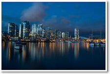 Vancouver Canada - Waterfront Travel City Skyline Art Print - NEW POSTER