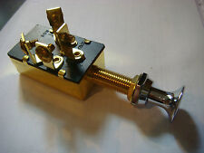 PUSH PULL SWITCH vintage type 4 poles 20 amp BRASS KNOB NEW Chris Craft 2 speed