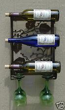 Metal Wine Bottle & Wine Glass Holder