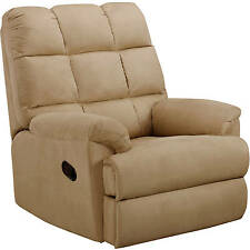 Recliner Sofa Chair Microsuede Rocking Living Room Furniture Reclining  Seat NEW