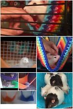2in1 cosy large hammock/corner hammock : ferret,rat,chinchilla,degu.mixed colour