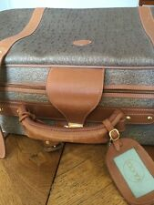 VALISE DE LUXE GUCCI MADE IN ITALY toile Monogramme Et Cuir