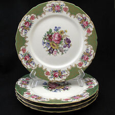 Rosenthal Continental 6772 Dinner Plate Multicolor Florals Green Rim Scroll Four
