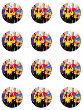 """NEW WIGGLES CUPCAKE TOPPERS 12 x 2"""" CIRCLES EDIBLE ICING PARTY DECORATION IMAGE"""