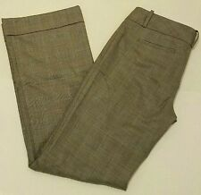 Banana Republic Womens Size 6 Dress Pants Gray Black Large Checkered Wool Career