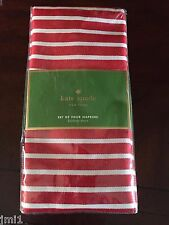 Kate Spade Harbour Drive Cranberry s/4 Napkins