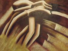 Lienzo Grande/Pintura - Oleo Cuerpo Abstracto Contemporáneo Sexy Marrón Original