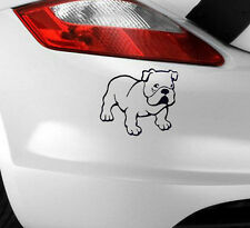 New Bulldog Car Sticker Funny Art Novelty/Window/Bumper Ideal For Dog Owners