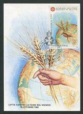 MALTESERORDEN SMOM S.M.O.M. MK 1981 FLORA GETREIDE MAXIMUM CARD MC CM d2719