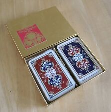 Vintage Double Pack Of Playing Cards By David Westnedge (Gold Box) (B)