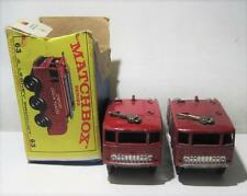 Lot Of 2 Matchbox Series No.63 Foamite Crash Tender's By Lesney 1 In Box Played