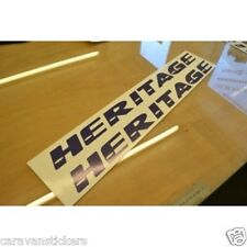 FLEETWOOD Heritage Caravan Name Stickers Decals Graphics - PAIR