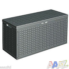 Cargo Plastic Garden Storage Box with Lid Garden Patio Cushion Storagebox Black