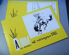 (PRL) ALBUMS DA DISEGNO STILE RUVIDO 10 FOGLI PAGINE 24,5x35 cm 1980 PROSPETTIVA