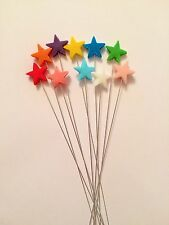 Edible Star Spray multi coloured rainbow Cake Topper Decoration