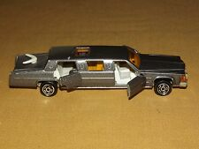 "VINTAGE TOY CAR 5"" MAJORETTE FRANCE METAL SILVER TOWN CAR LIMOUSINE"